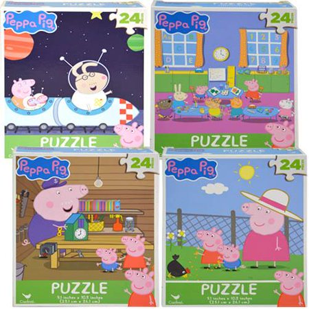 Birthday Party Puzzle - New Party Favors Peppa Pig 24pc Puzzle Asstd -3 Pack