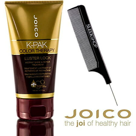 Joico K-Pak Color Therapy Luster Lock Instant Shine & Repair Treatment (With Sleek Steel Pin Tail Comb) 4.7 Oz Original Size