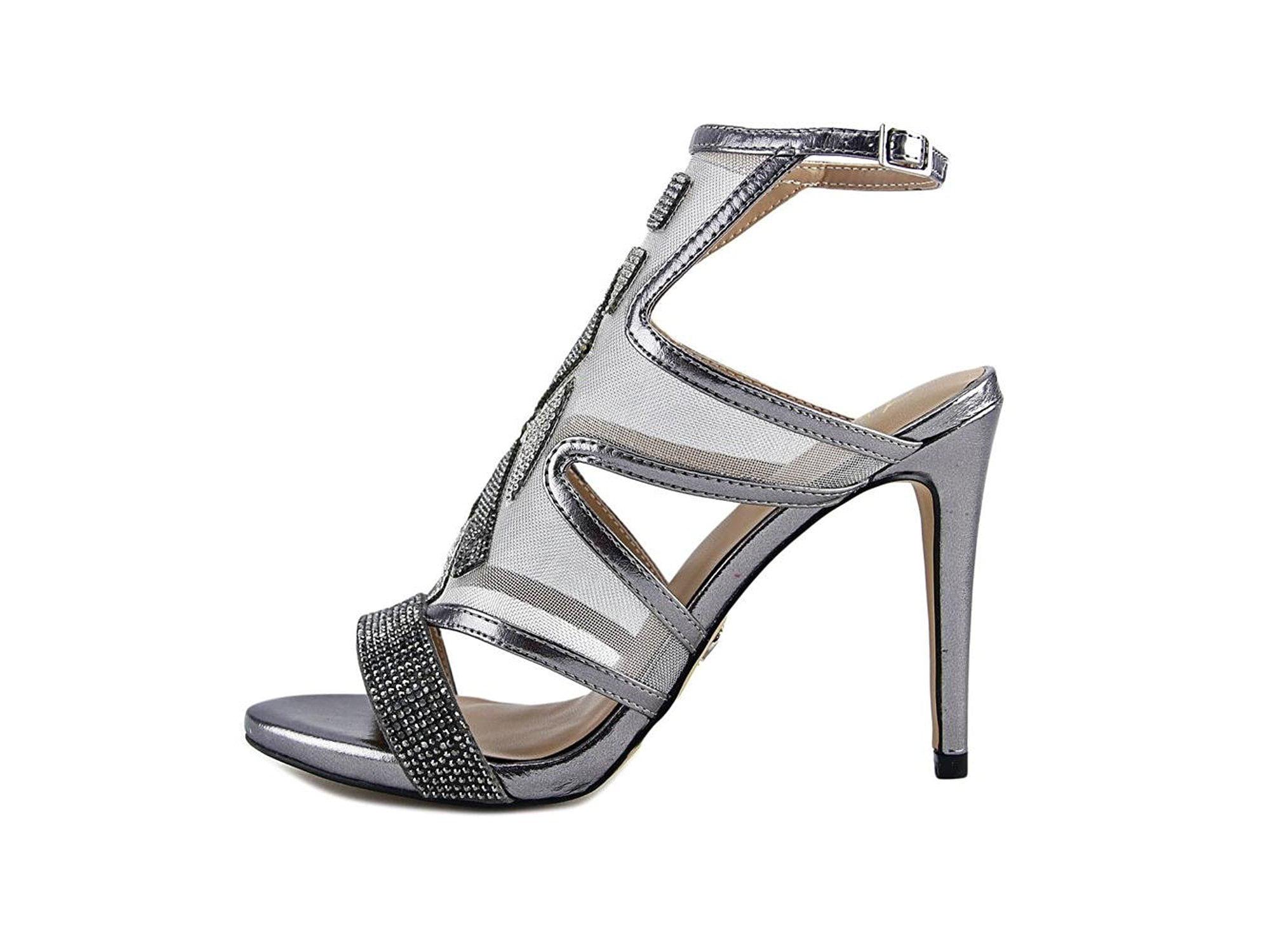 Thalia Sodi Damenschuhe Regalo Fabric Open Open Fabric Toe Special Occasion, Pewter ... 731017