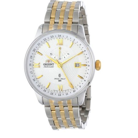 Orient DJ02001W Men's Constellation White Dial Two Tone Steel Bracelet Automatic GMT Watch