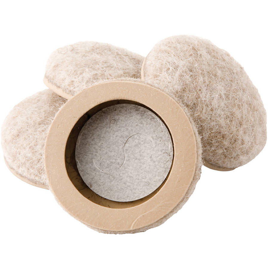 "Waxman Consumer Group 4318495N 1"" Felt Bottom Round Furniture Sliders, 4 Count"