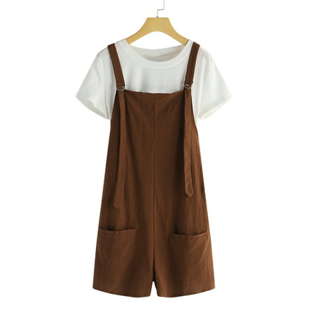 Women's Casual Jumpsuits Overalls Baggy Bib Pants Short Rompers
