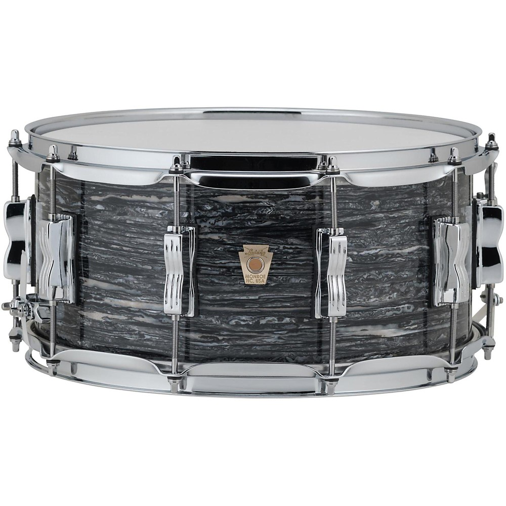 Ludwig Classic Maple Snare Drum 14 x 6.5 in. Vintage Black Oyster Pearl by Ludwig