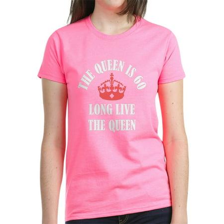 218c57571 CafePress - CafePress - The Queen Is 60 - Women's Dark T-Shirt - Walmart.com