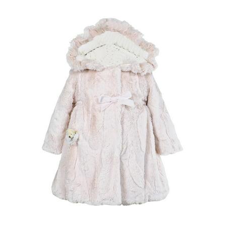 Widgeon Little Girls' Hooded Big Bow Coat - image 1 of 1