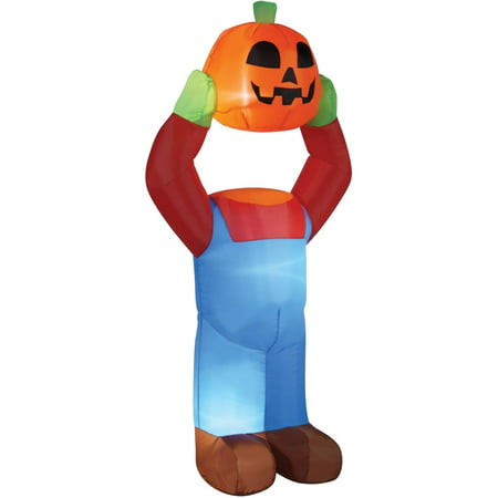 4' Headless Pumpkin Inflatable Halloween Decoration - Halloween Singing Pumpkin Faces