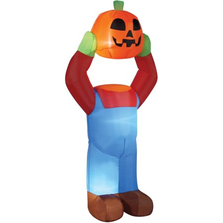 4' Headless Pumpkin Inflatable Halloween Decoration](Painting Halloween Pumpkin Ideas)