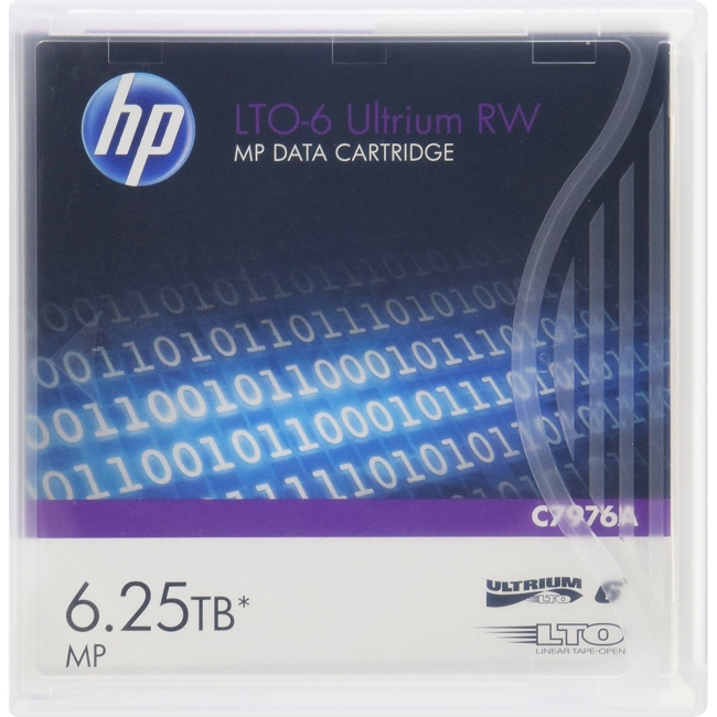 HEWLETT PACKARD ENTERPRISE C7976A HP LTO-6 ULTRIUM 6.25TB RW DATA TAPE