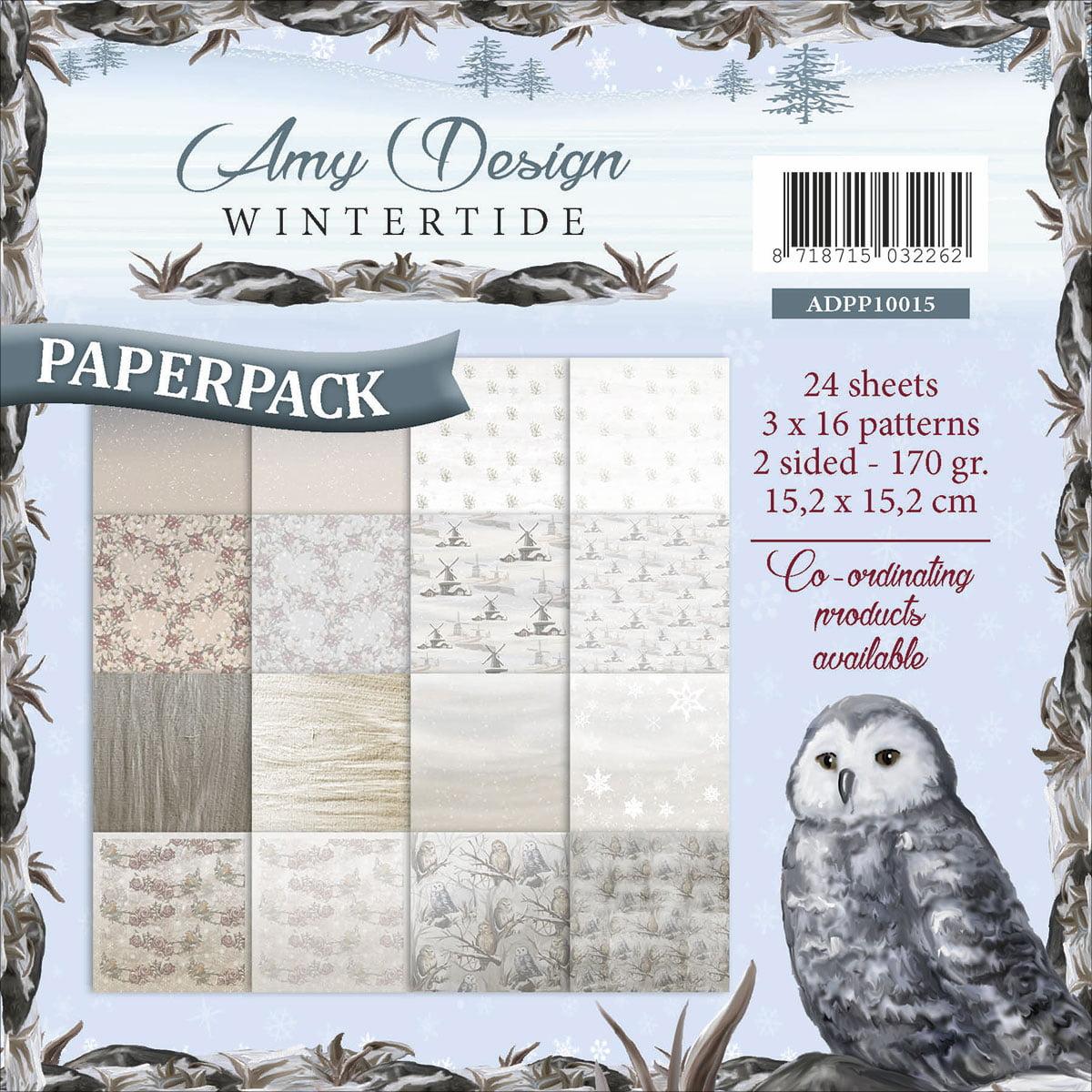 "Find It Trading Amy Design Paper Pack 6""X6""-Wintertide - image 1 de 1"