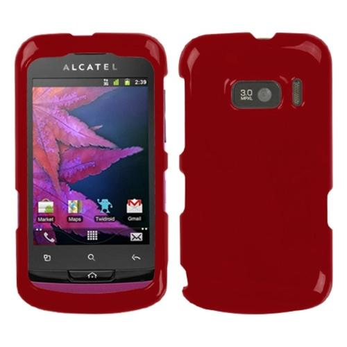 Insten Solid Red Phone Case Cover For ALCATEL 918 One Touch