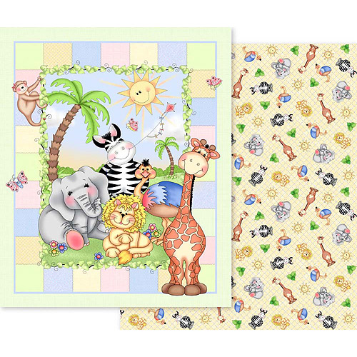 Creative Cuts Nursery Blanket Fabric Kit, Bazooples