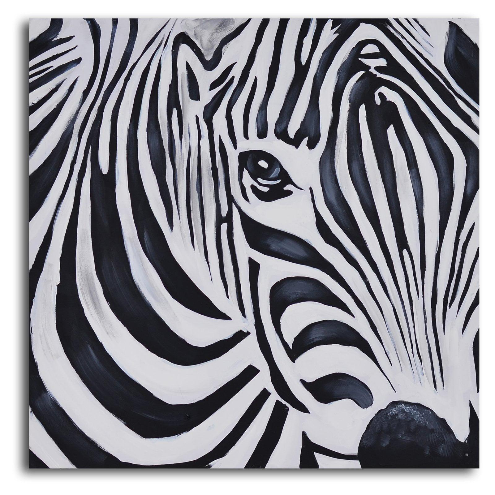 Zebra Perspective Canvas Wall Art