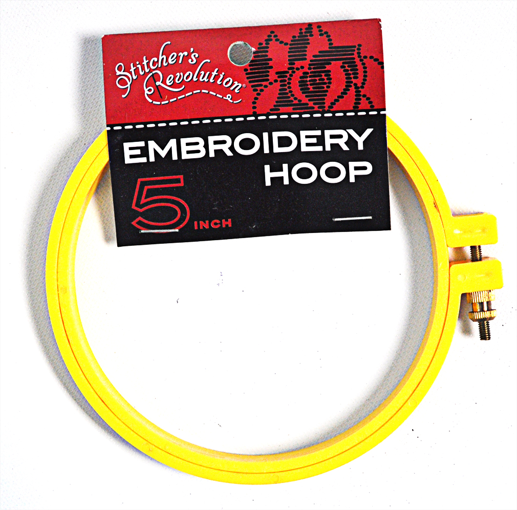 Stitchers Revolution Embroidery Hoop Yellow 5in