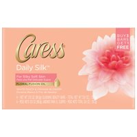 Caress Daily Silk Bar Soap, 4 Pack