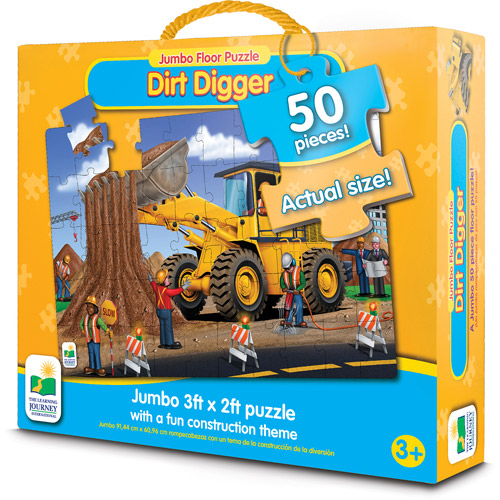 Jumbo Floor Puzzles Dirt Digger Floor Puzzle by The Learning Journey