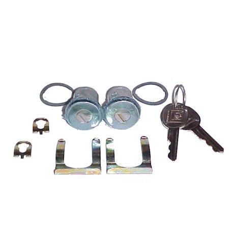 New Pair Ford Door Lock Keyed Cylinder Kit - Oval Key - -