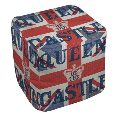 Manual Woodworkers & Weavers My Queen Castle Square Pouf