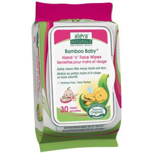 ALEVA NATURALS BAMBOO HAND N FACE WIPES 30CT 6PK OF 30CT (Bamboo Wipes)