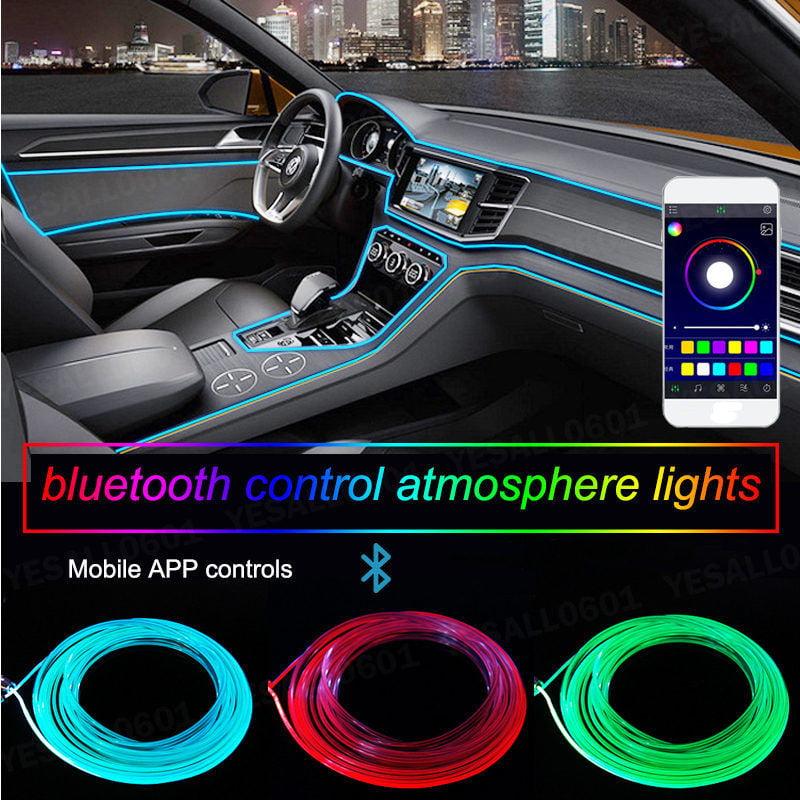 12 LED Auto Car Decorative Light Interior Foot Mood Lamp With Phone App Control