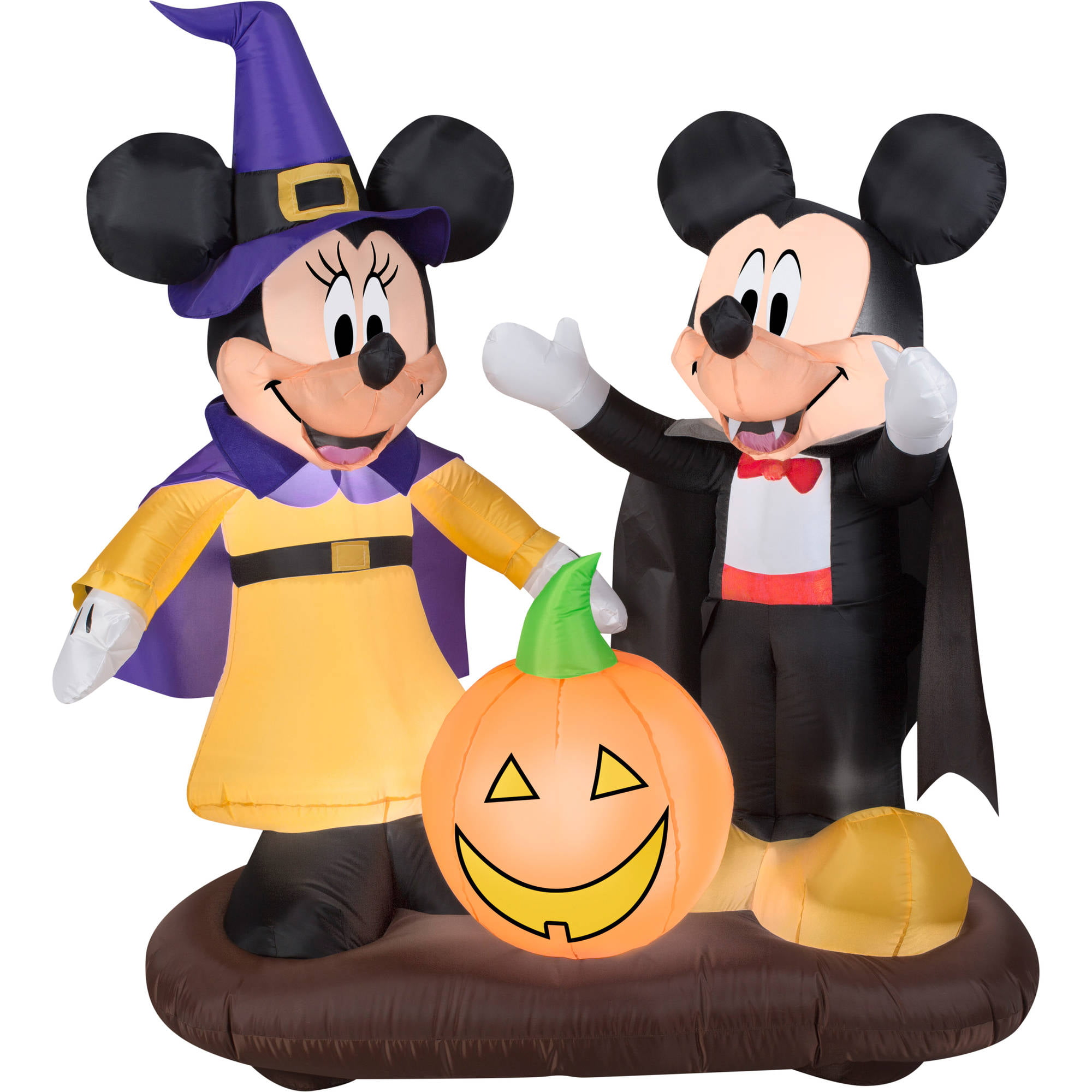 gemmy airblown inflatable 45 x 45 mickey mouse and minnie mouse halloween decoration walmartcom - Blow Up Halloween Decorations