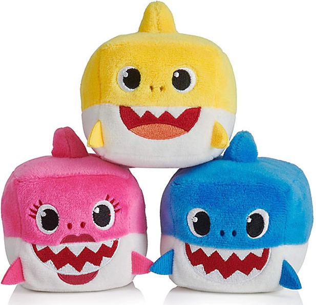 Pinkfong Baby Shark Set of 3 Plush Cube with Sounds