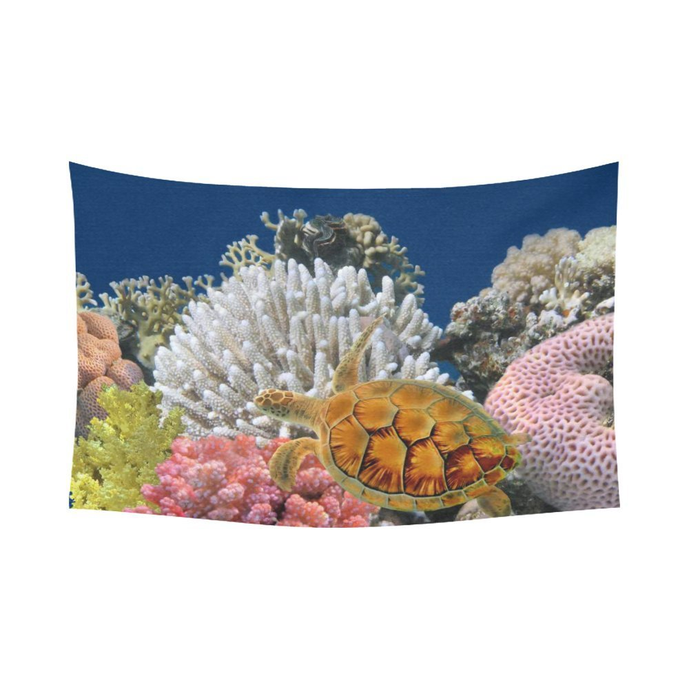 PHFZK Underwater World Wall Art Home Decor, Sea Turtle And