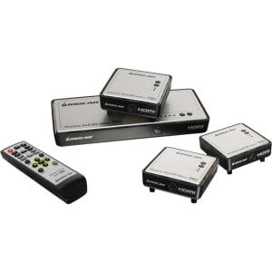 Iogear Long Range Wireless 5x2 HDMI Matrix PRO with 2 Additional Receivers by IOGEAR