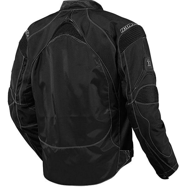 Choose Size ICON Contra Textile Motorcycle Jacket Black