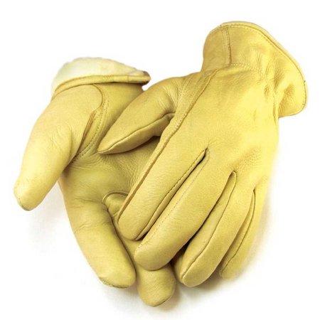 Mens Full Grain Tan Deerskin Gloves Lined 40 gram 3M Thinsulate - Deerskin Mittens