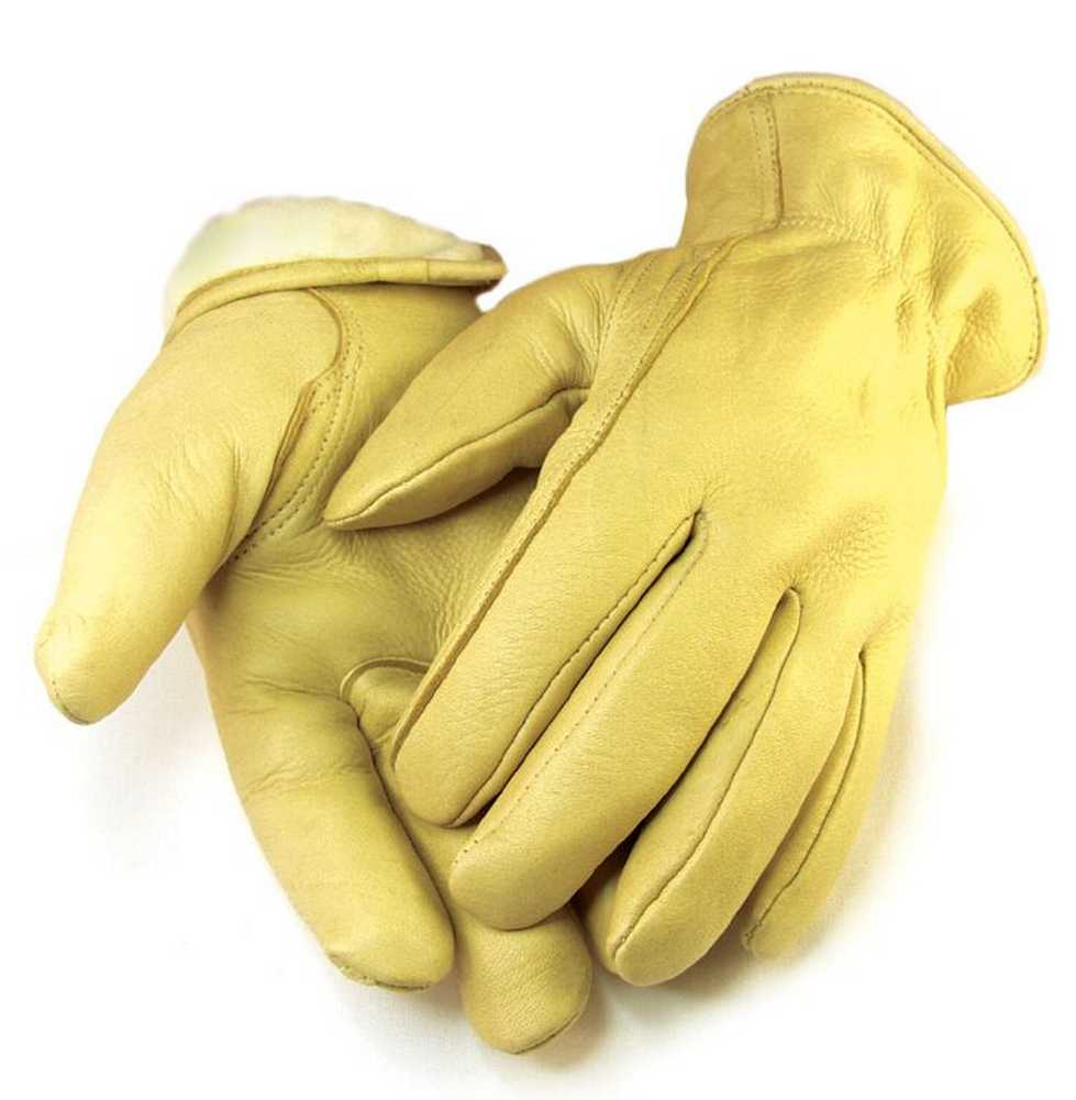 Mens Full Grain Tan Deerskin Gloves Lined 40 gram 3M Thinsulate 013T