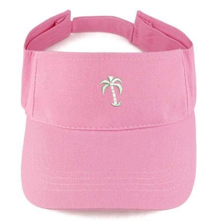 - Trendy Apparel Shop Palm Tree Embroidered Summer Adjustable Visor