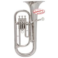 Hawk Nickel Plated Bb Baritone Horn with Case and Mouthpiece