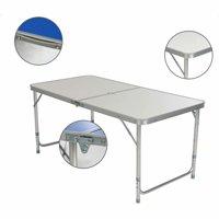 120 x 60 x 70 4Ft Portable Multipurpose Folding Table White