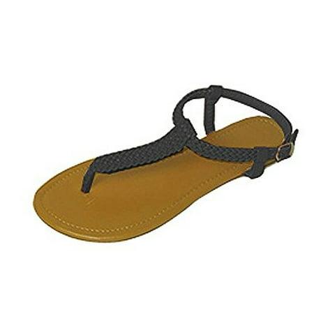 a5e7ca345993 P26 - P26 Womens Roman Gladiator Sandals Braided Flats Thongs Shoes ...