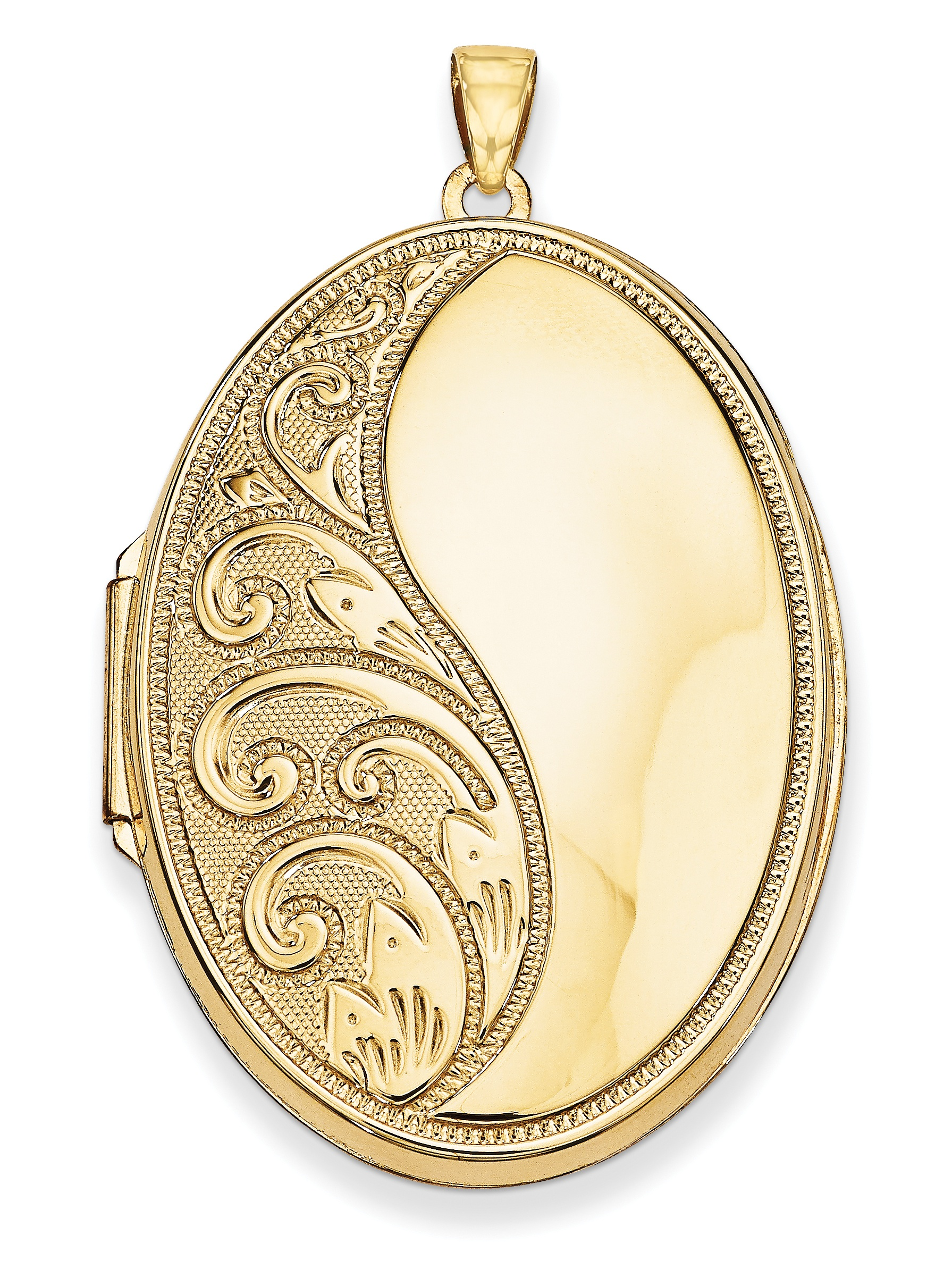 14k Oval Heavy Weight Locket by Kevin Jewelers