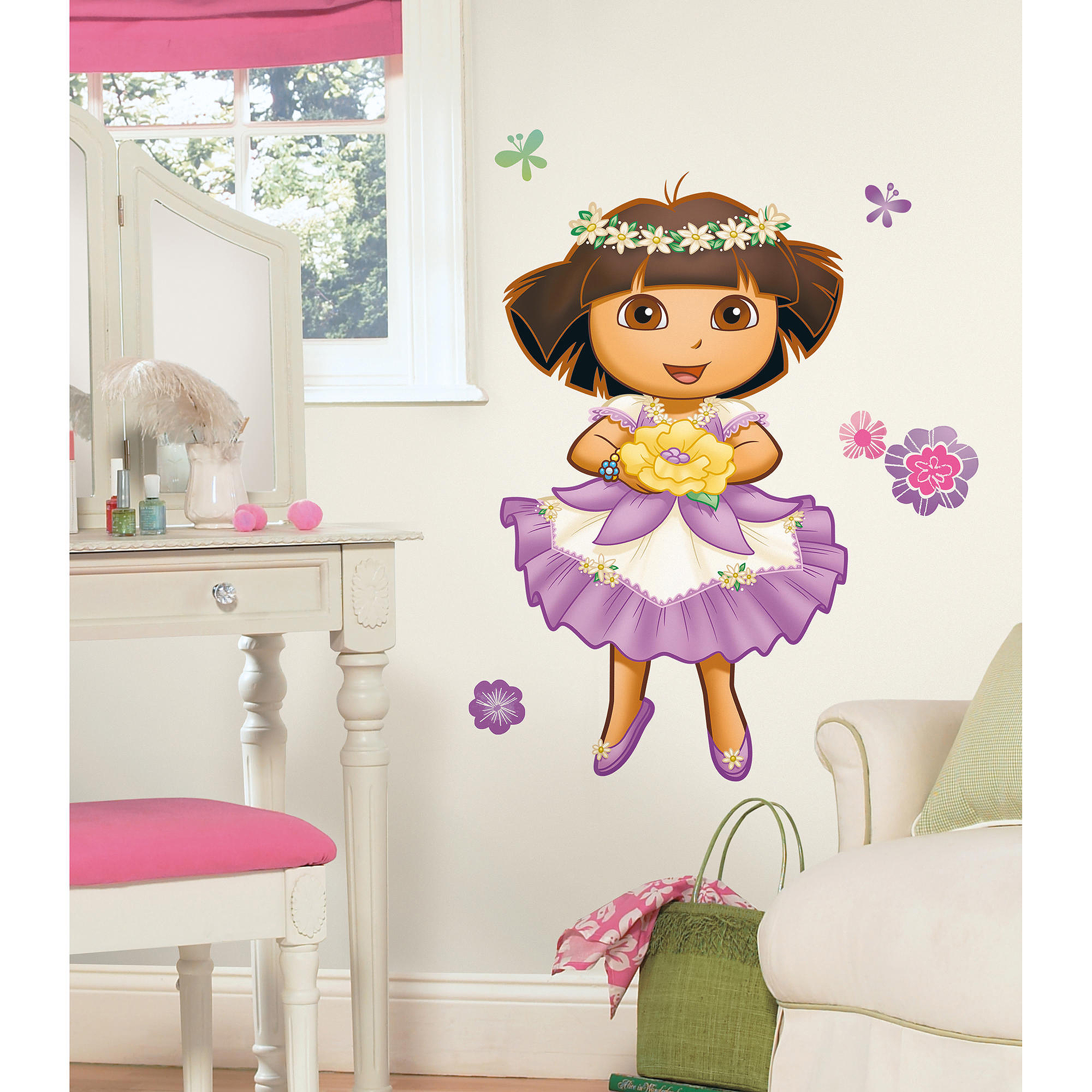 RoomMates Dora's Enchanted Forest Peel & Stick Giant Wall Decal