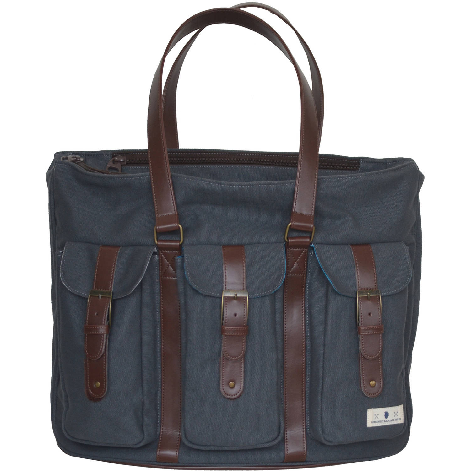 Diaper Dude Canvas Tote Diaper Bag, Gray