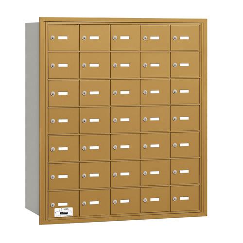 Salsbury Industries 4B+ Horizontal Mailbox 35 Doors Rear Loading Private Access