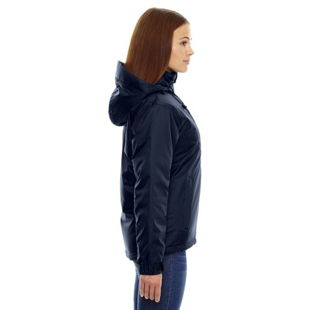 North End Ash City Women's Insulated Adjustable Thermal Hood Jacket