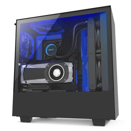Nzxt Case H500i Mid Tower Bkblue Walmartcom