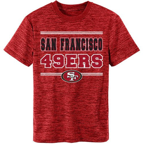 NFL San Francisco 49ers Youth Short Sleeve Space Dye Tee