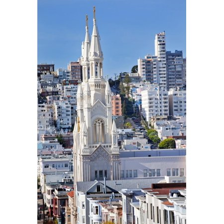 Saint Peter and Paul Catholic Church Steeples Houses San Francisco, California Print Wall Art By William (St Peter And Paul Church San Francisco)