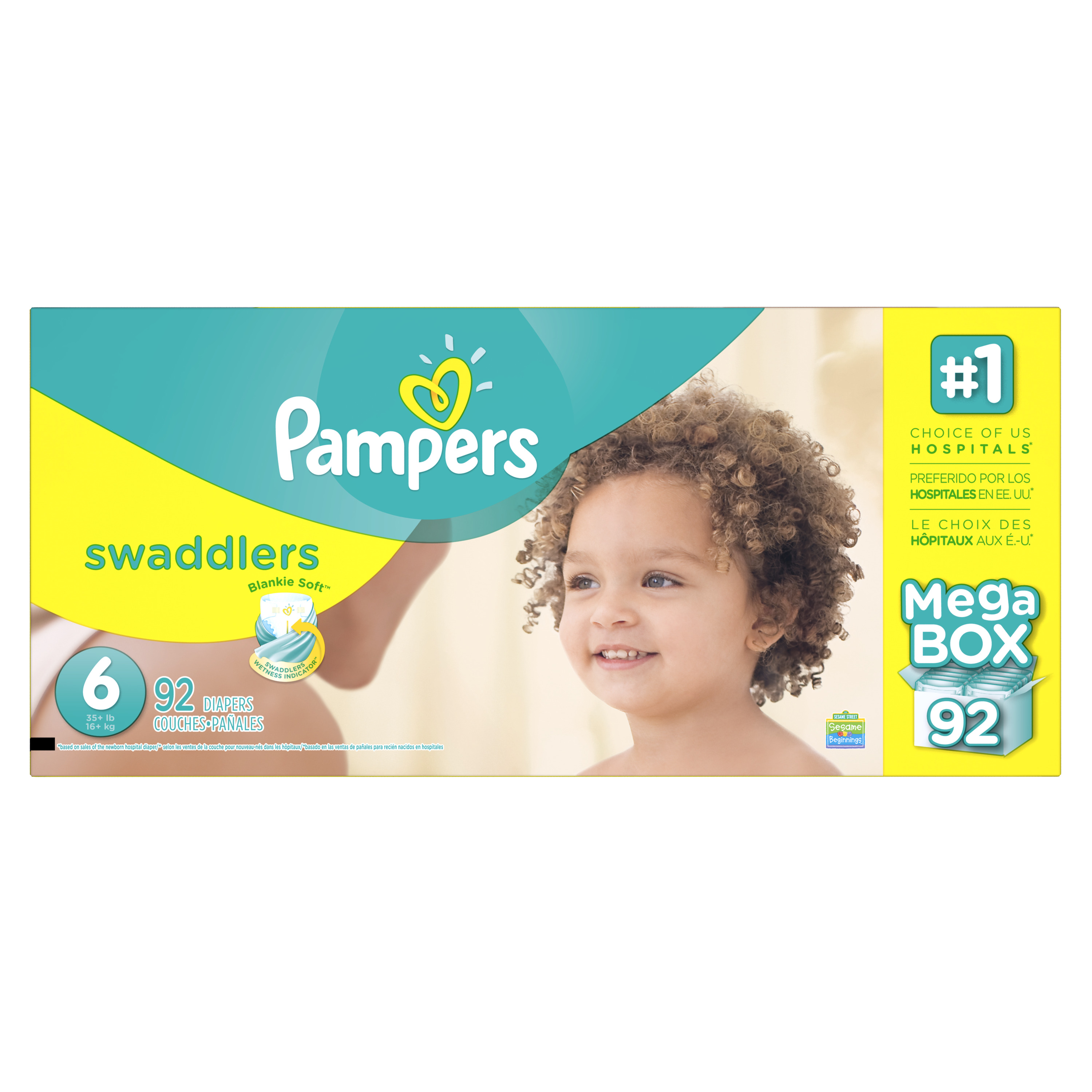 Product of 'Pampers' Swaddlers Size 6 Diapers; 92 ct. - Bulk Qty, Free Shipping - Comfortable, Soft, No Leaking & Good nite Diapers