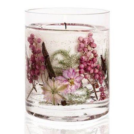 Pink Pepper Flowers Stoneglow Natures Gift Scented Natural Wax Botanical Candle - 30 Hour (30 Candles)