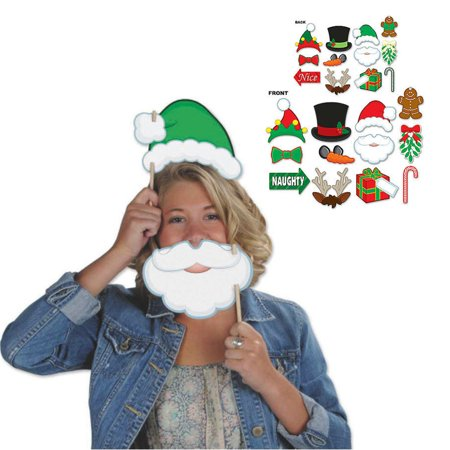 Beistle Christmas Photo Booth Props, 12 Count