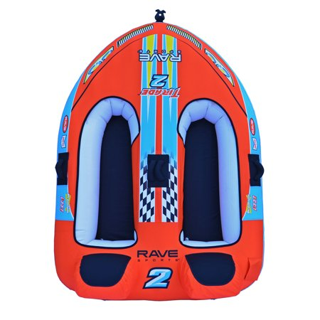 RAVE Sports Tirade II Inflatable 2 Person Rider Towable Boat Water Tube