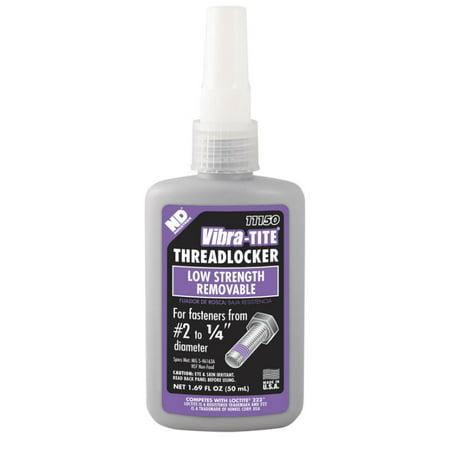 Vibra-TITE 111 Low Strength Removable Anaerobic Threadlocker, 50 ml Bottle, Purple