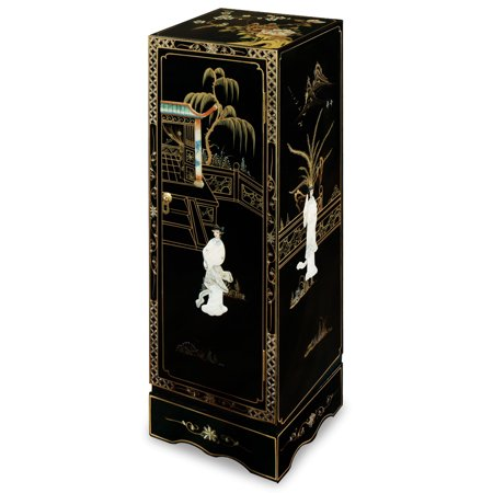 China Furniture and Arts Chinese Black Lacquer Pedestal