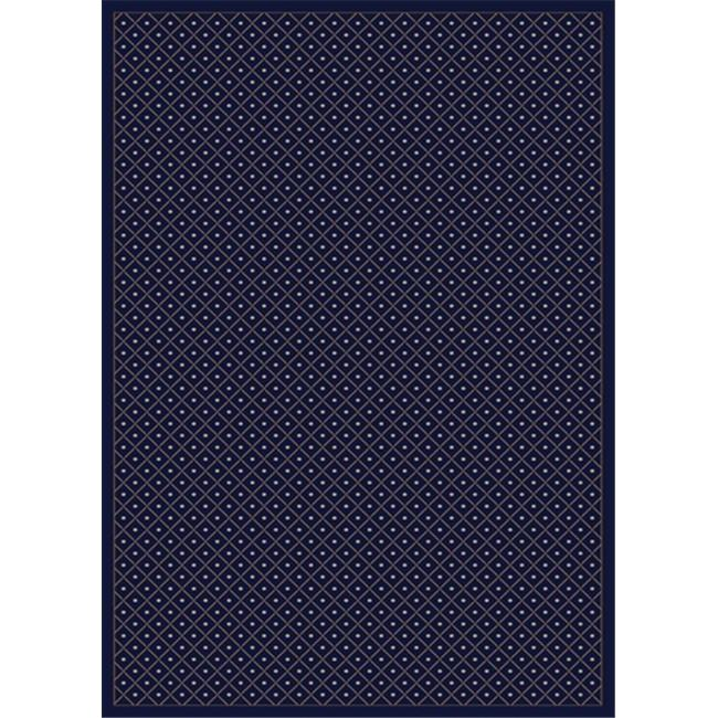 Radici 782-1310-NAVY Como Rectangular Navy Blue Traditional Italy Area Rug, 3 ft. 3 in. W x 4 ft. 11 in. H - image 1 of 1