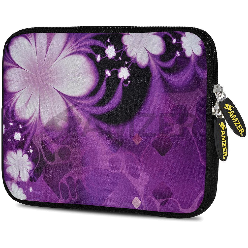 Designer 10.5 Inch Soft Neoprene Sleeve Case Pouch for Apple iPad Pro 9.7, iPad 2, iPad 3, iPad 4 (Fit with Smart Case, Folio Covers) - Purple Contessa